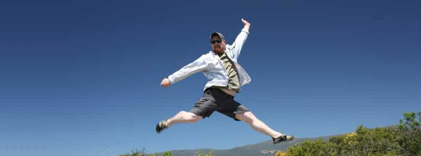 Josh Meeder Jumps over California