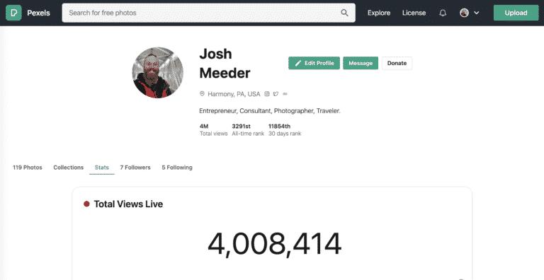 4 million pexel views
